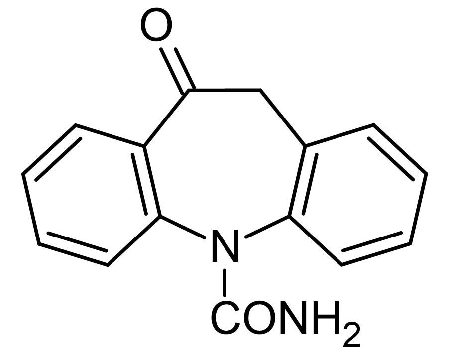 Chemical Structure - Oxcarbazepine, Sodium channel inhibitor (ab141827)