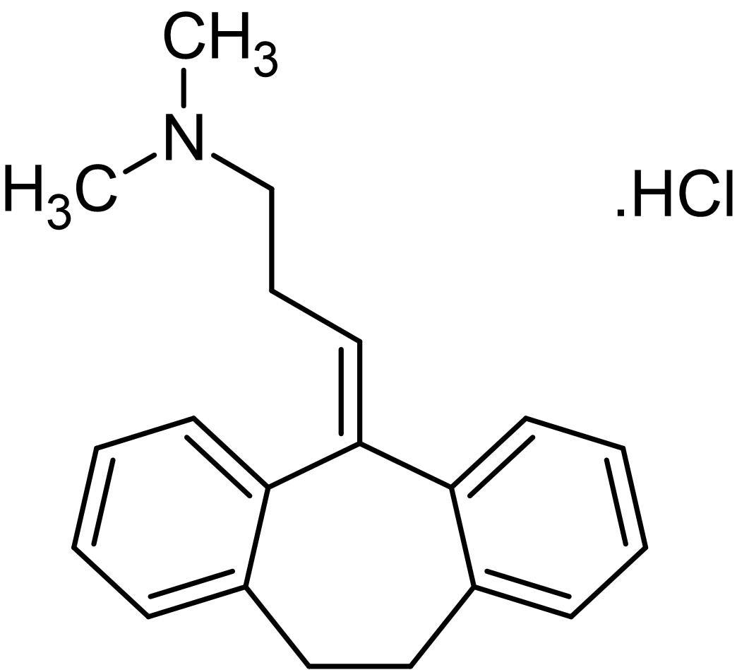 Chemical Structure - Amitriptyline hydrochloride, Serotonin and noradrenalin uptake inhibitor (ab141902)