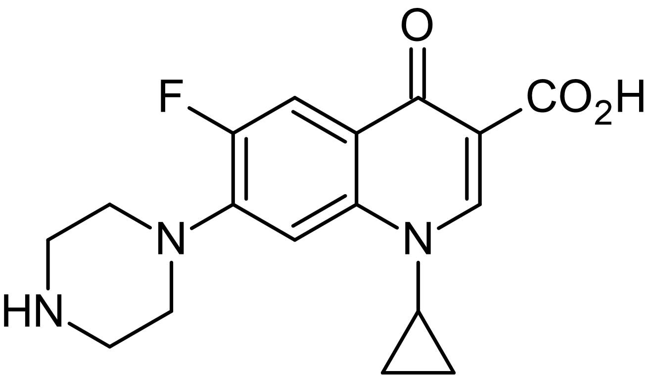 Chemical Structure - Ciprofloxacin, Broad-spectrum antibiotic (ab141917)
