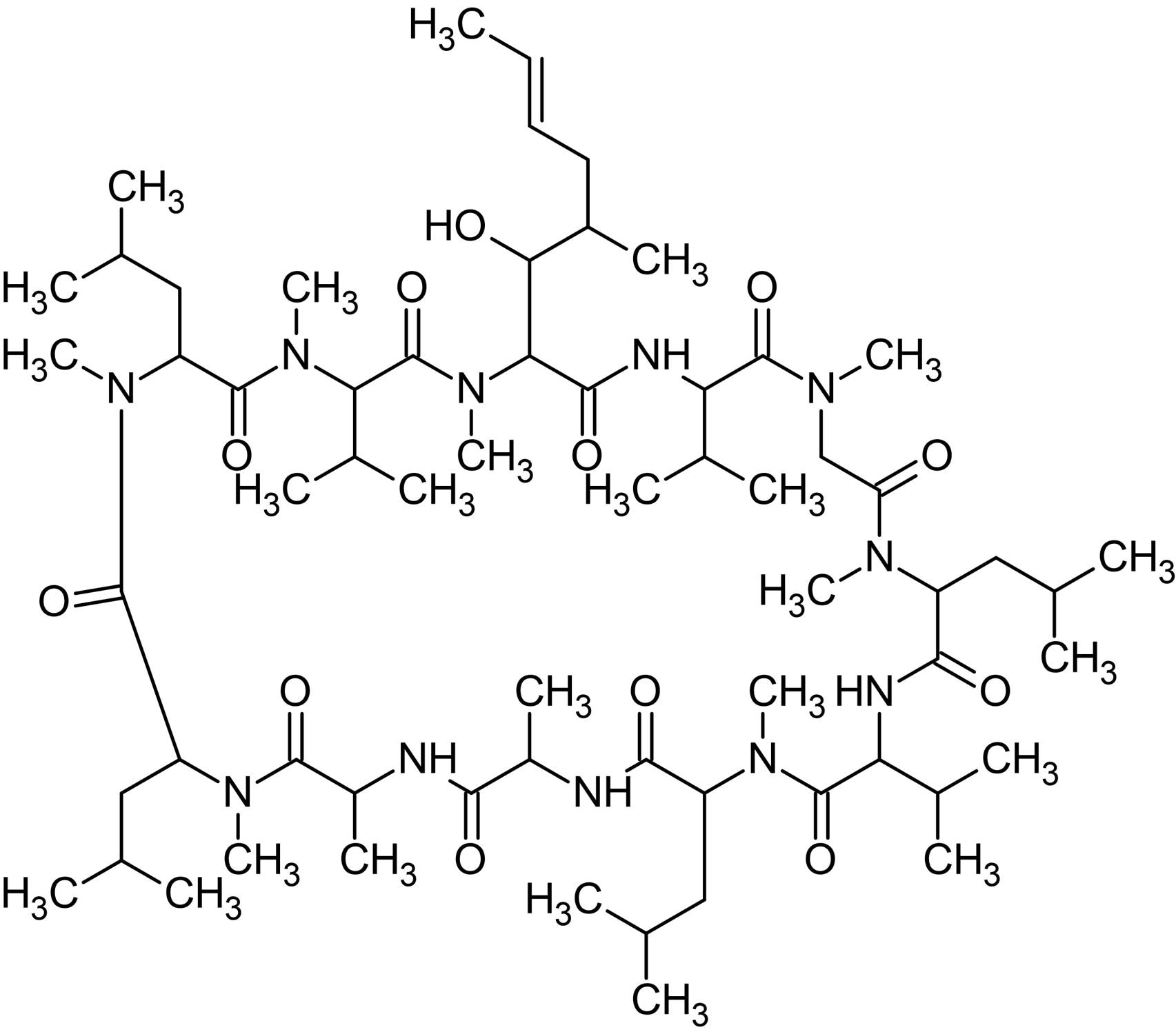 Chemical Structure - Cyclosporin D, TPA/PMA inhibitor (ab141922)