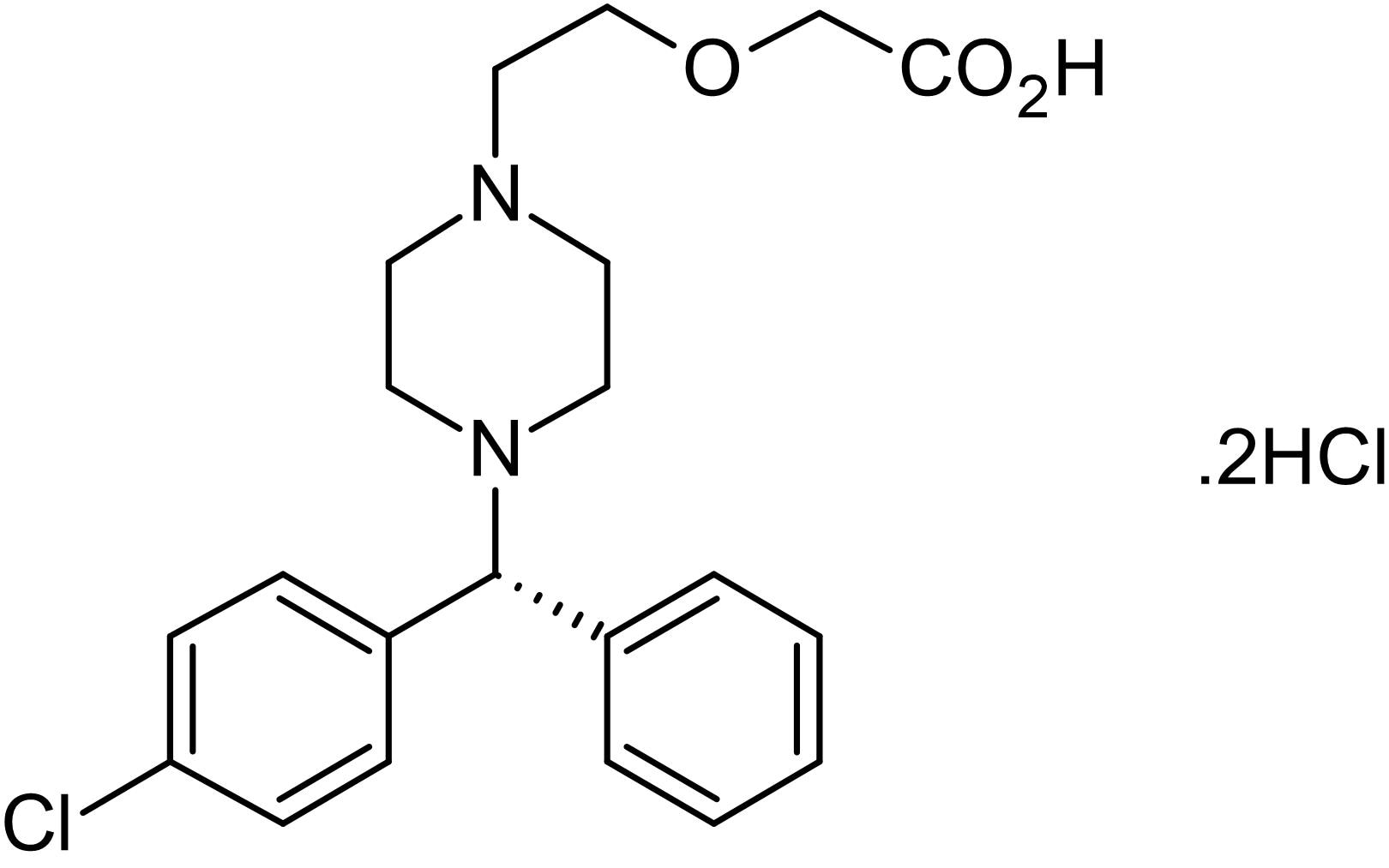 Chemical Structure - Levocetirizine dihydrochloride, H<sub>1</sub> receptor antagonist (ab141947)