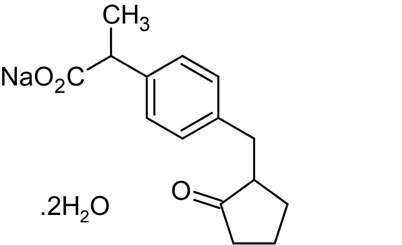 Chemical Structure - Loxoprofen sodium dihydrate, Cycloxygenase inhibitor (ab141951)