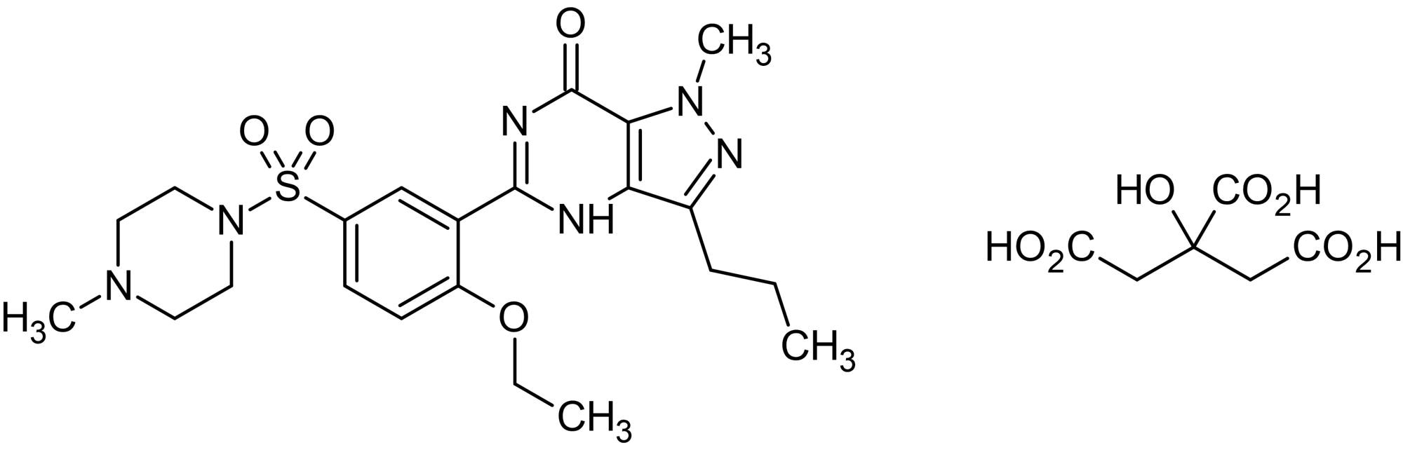 Chemical Structure - Sildenafil citrate, phosphodiesterase 5 (PDE5) inhibitor (ab141965)