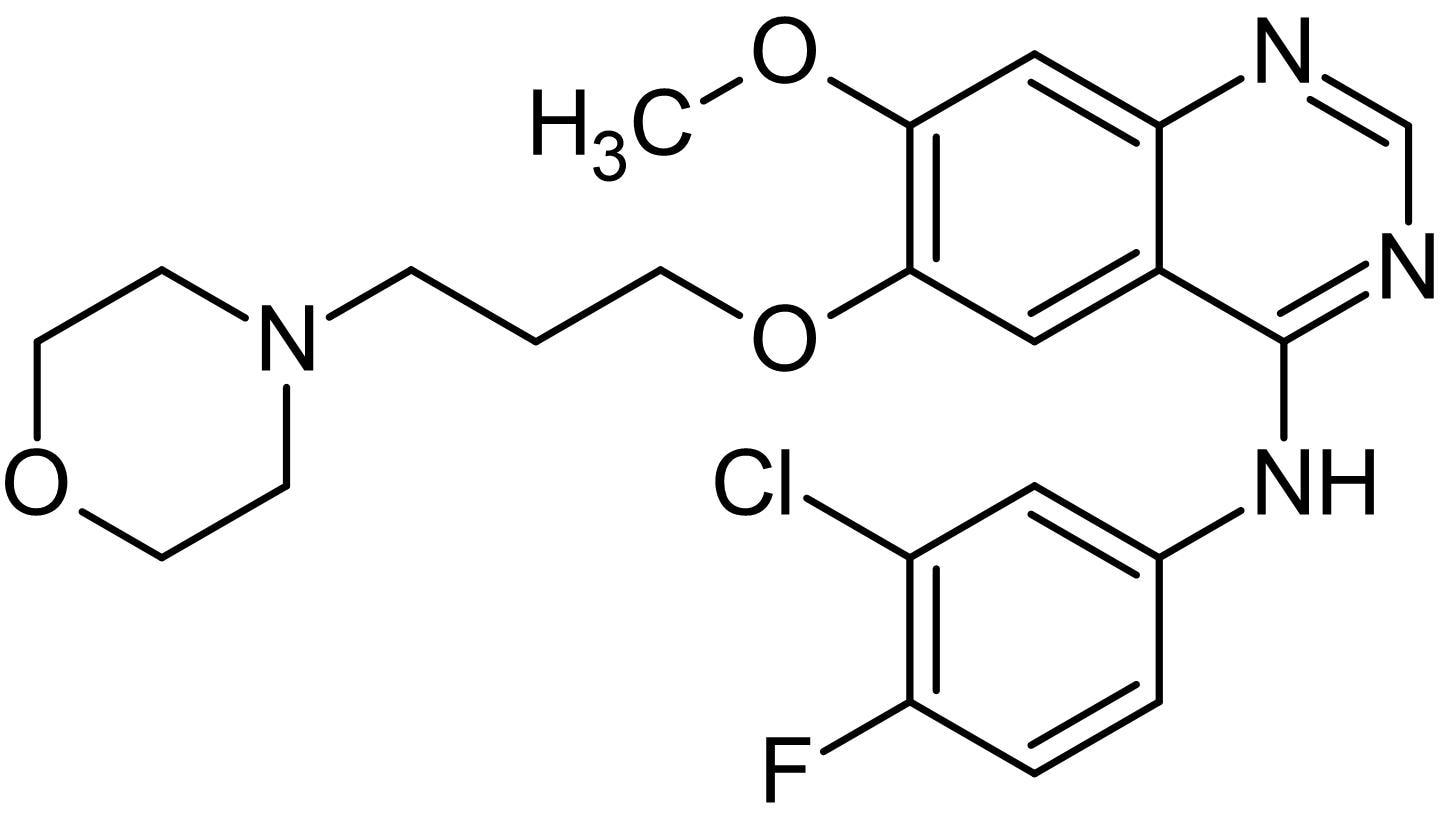 Chemical Structure - Gefitinib, EGFR tyrosine kinase inhibitor (ab142052)