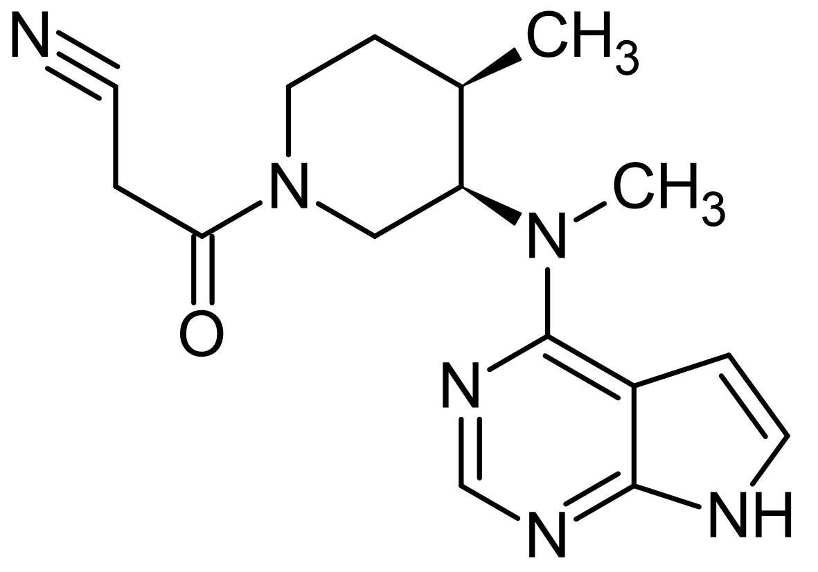 Chemical Structure - Tofacitinib, Janus kinase (JAK) inhibitor (ab142068)