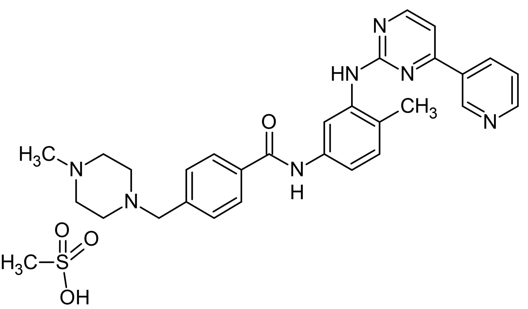 Chemical Structure - Imatinib mesylate, Tyrosine kinase inhibitor (ab142070)