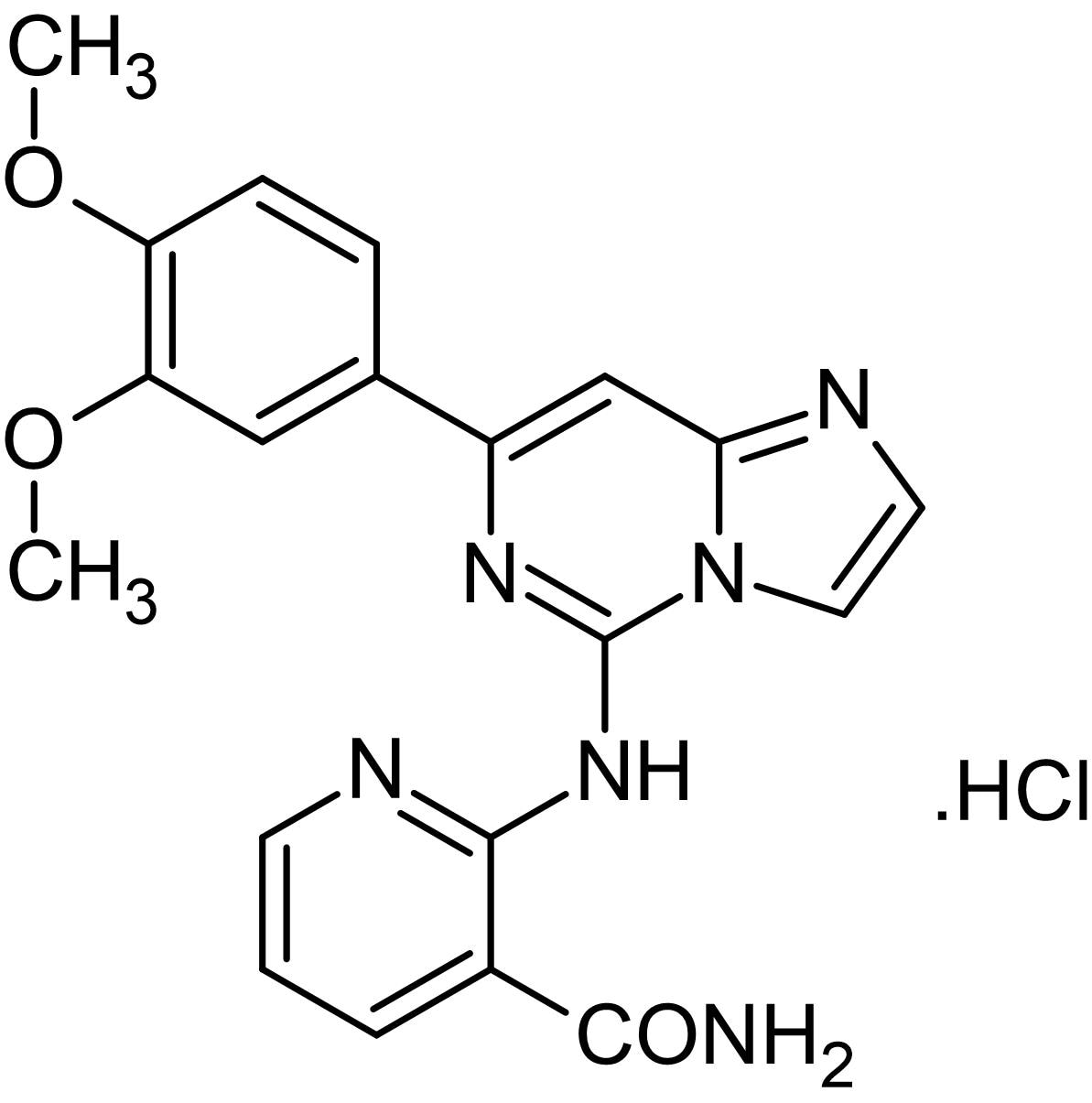 Chemical Structure - Bay 61-3606 hydrochloride, Syk kinase inhibitor (ab142106)