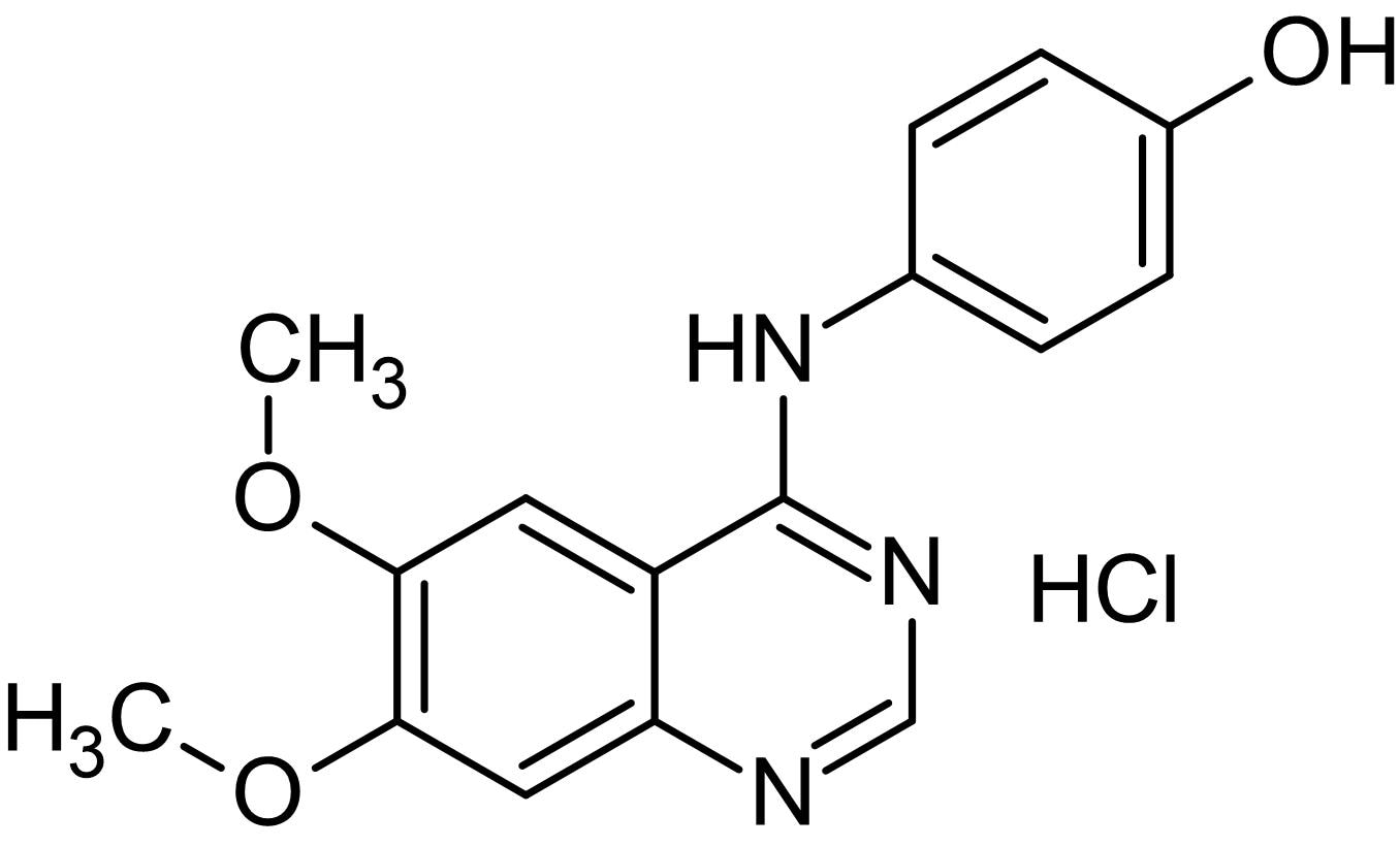 Chemical Structure - WHI-P131 hydrochloride, JAK3 inhibitor (ab142126)