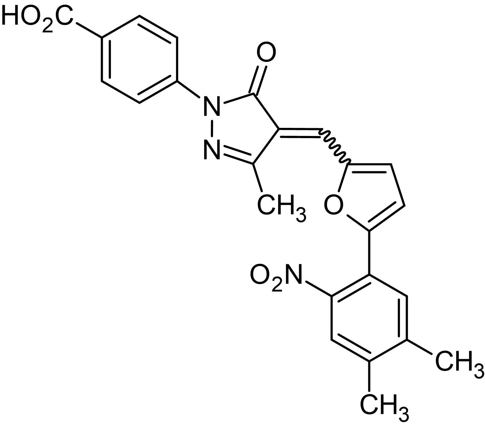 Chemical Structure - C 646, p300/CBP Inhibitor, p300/CBP HAT inhibitor (ab142163)