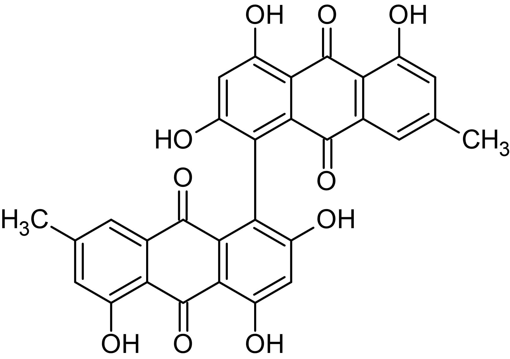 Chemical Structure - Skyrin, glucagon receptor antagonist (ab142207)