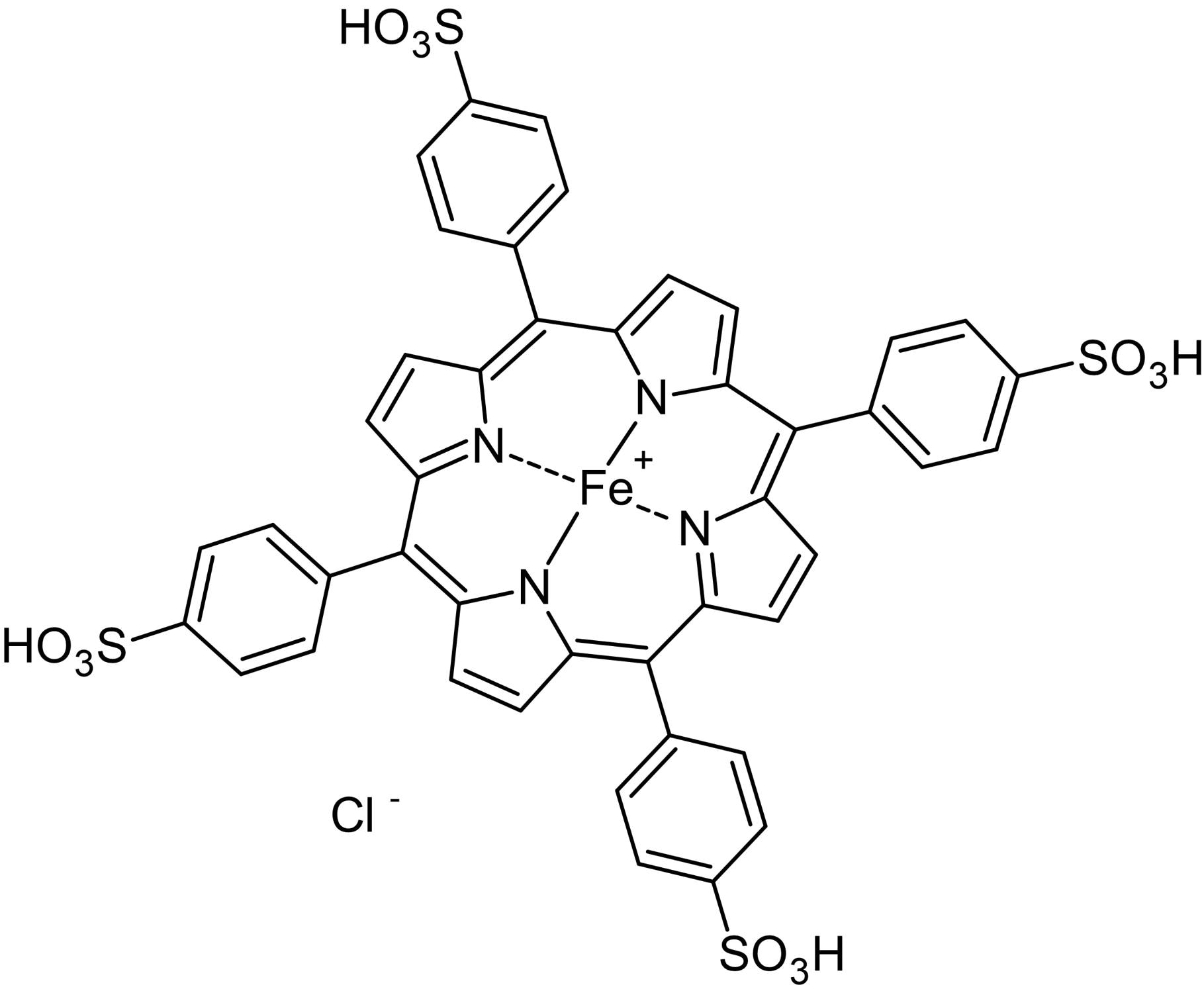 Chemical Structure - FeTPPS, peroxynitrite decomposition catalyst and scavenger (ab142217)