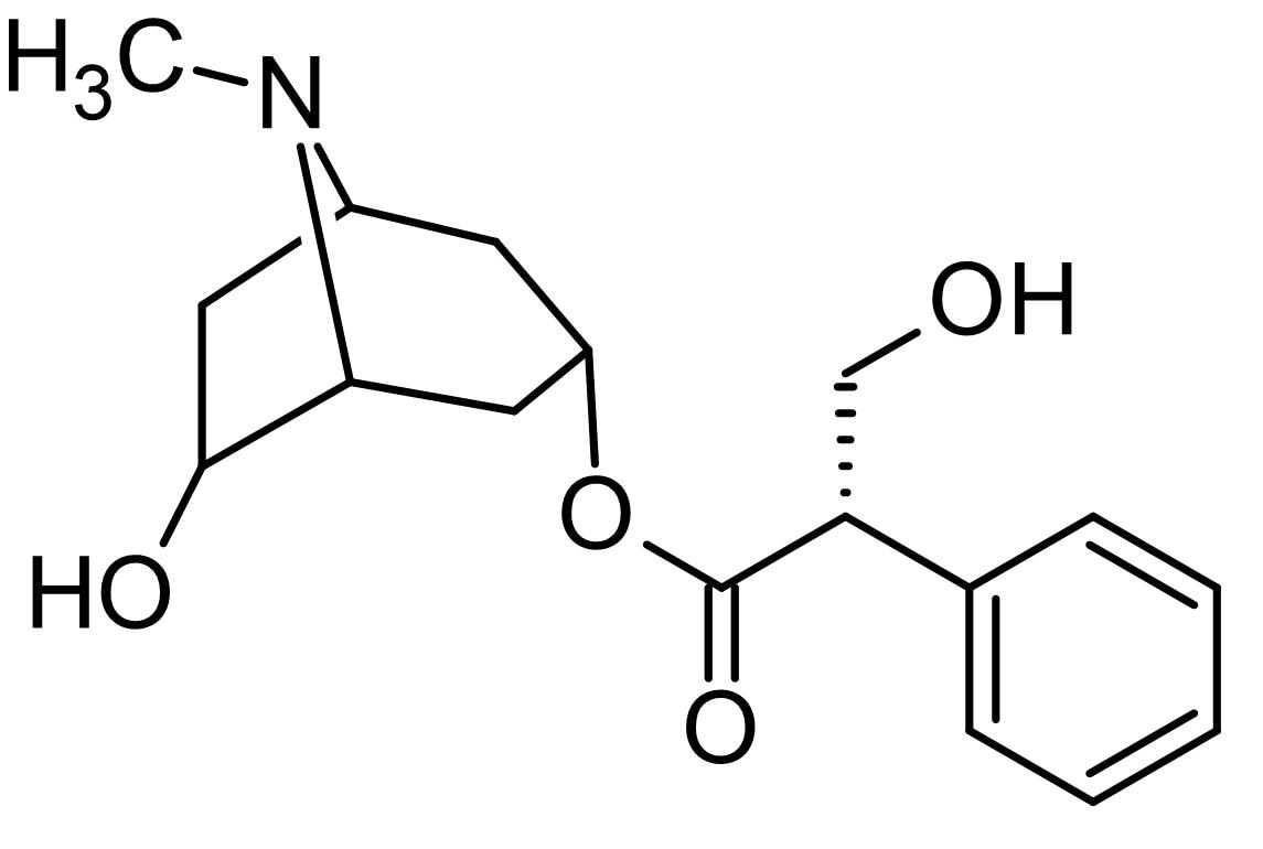 Chemical Structure - Anisodamine, cholinergic receptor antagonist (ab142260)