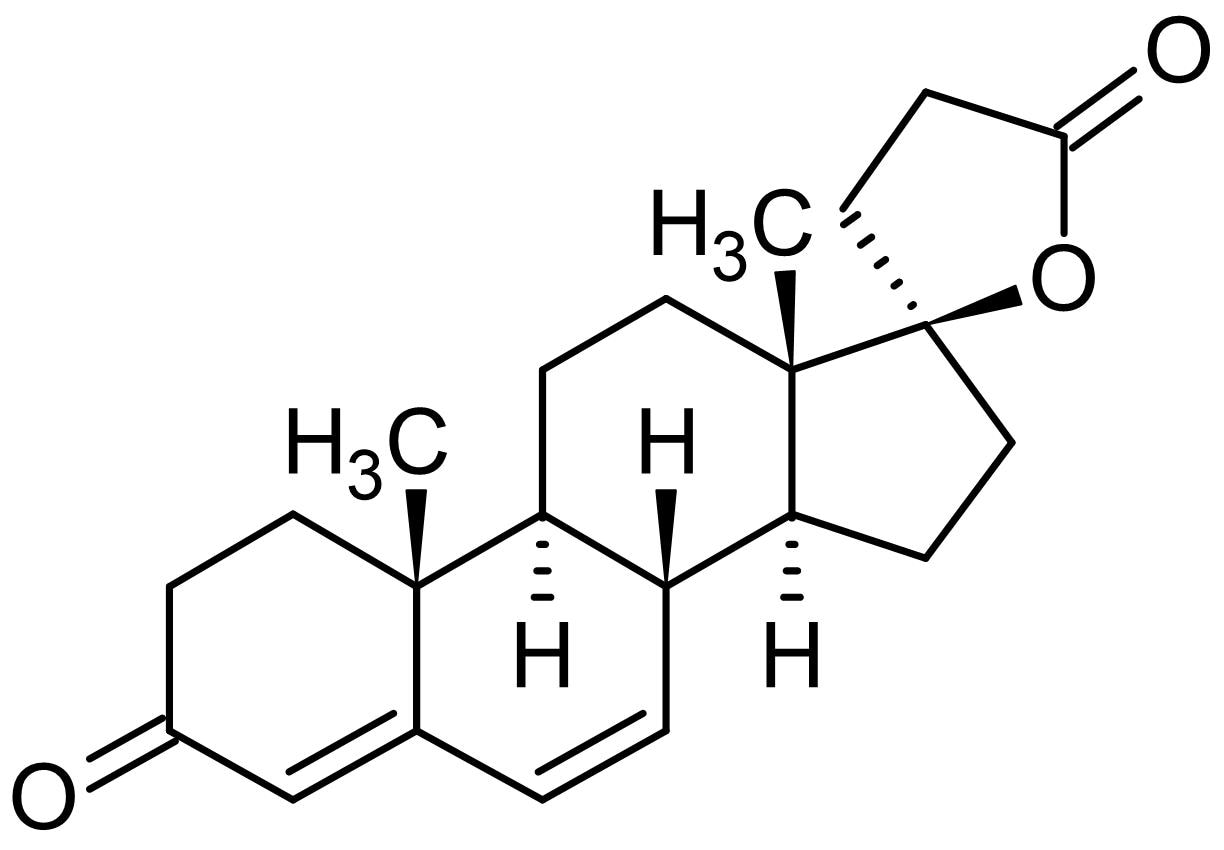 Chemical Structure - Canrenone, mineralocorticoid receptor antagonist (ab142266)