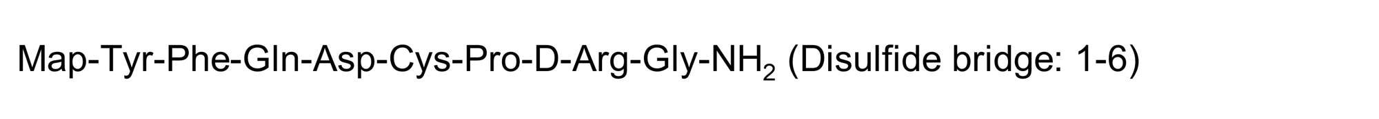 Chemical Structure - Desmopressin, Vasopressin analog (ab142281)