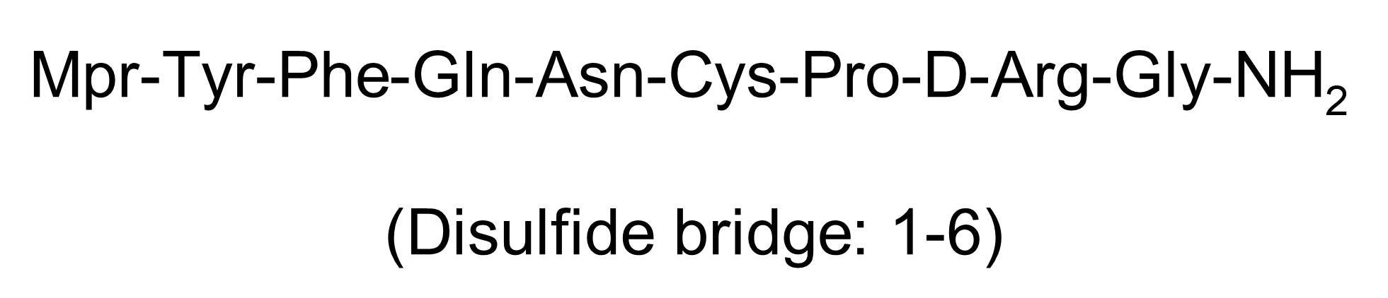 Chemical Structure - Desmopressin acetate, Vasopressin V2 receptor agonist (ab142282)
