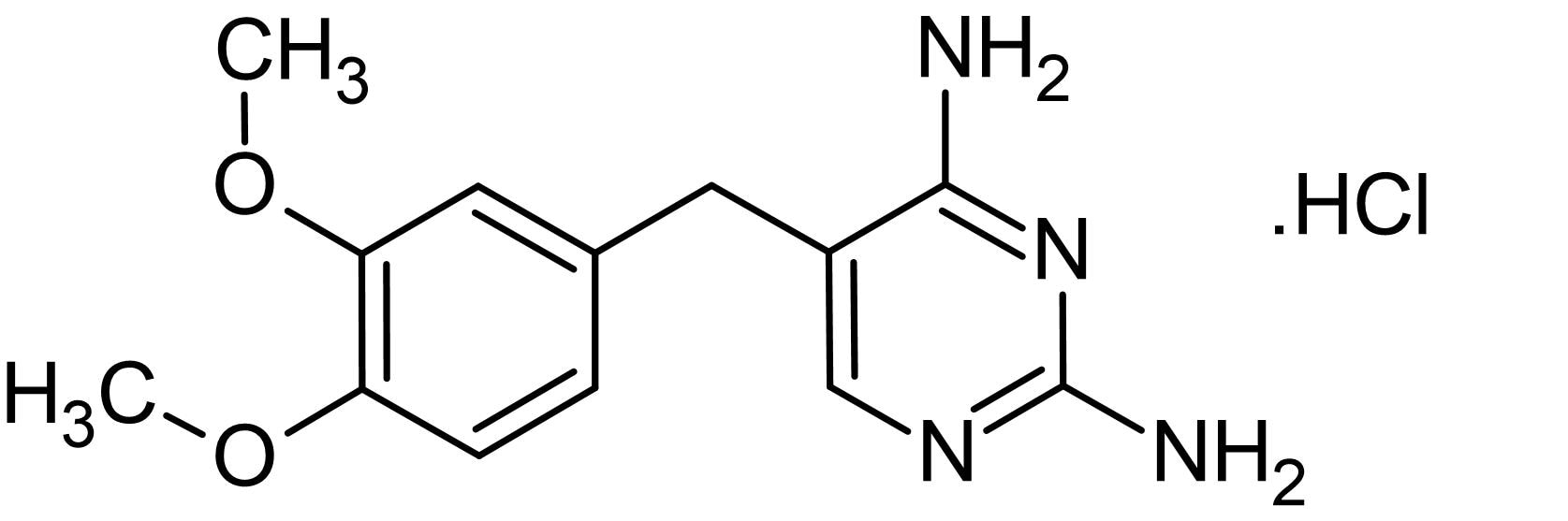 Chemical Structure - Diaveridine hydrochloride, Coccidiostat and DHFR inhibitor (ab142286)