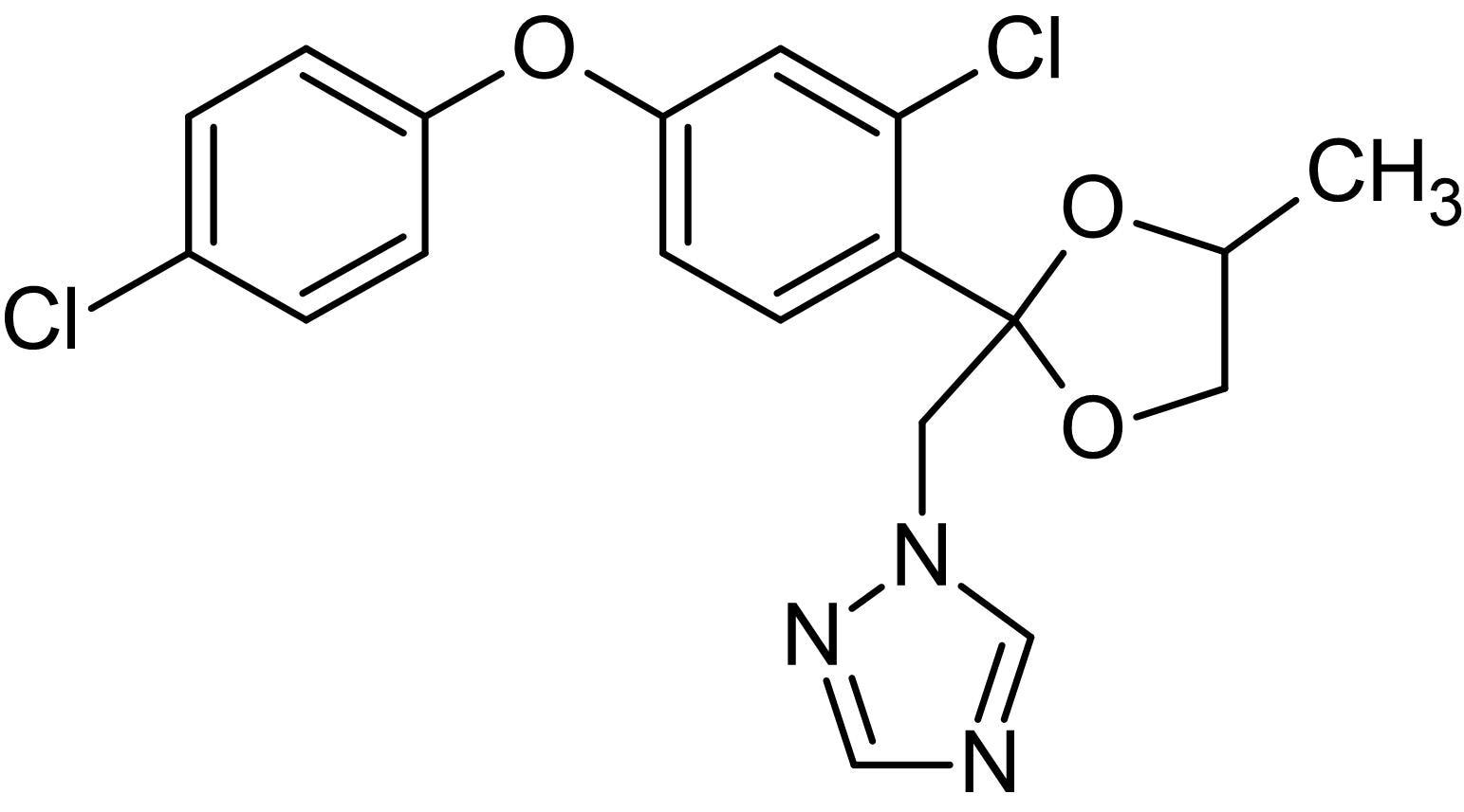 Chemical Structure - Difenoconazole, Plant fungicide (ab142287)