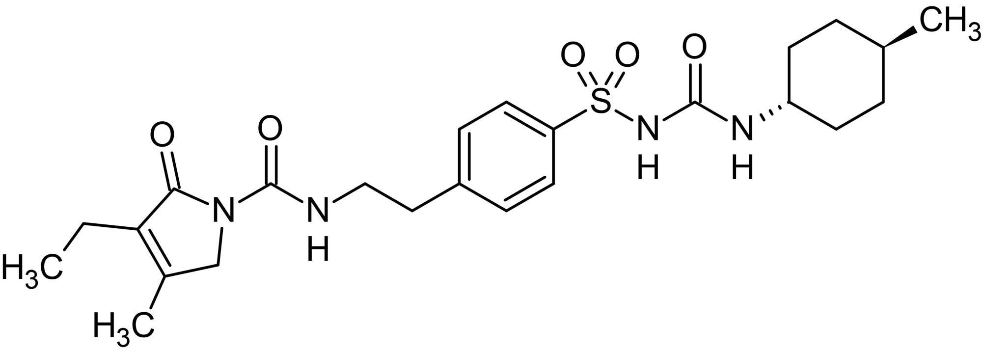 Chemical Structure - Glimepiride, cardiac K<sub>ATP</sub> channel blocker (ab142301)