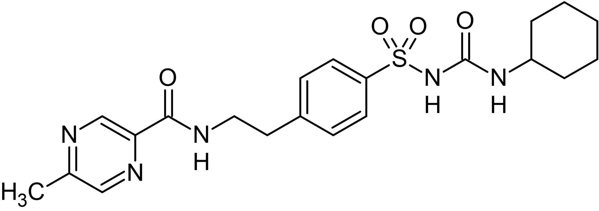 Chemical Structure - Glipizide, Sulfonylurea receptor (ab142302)