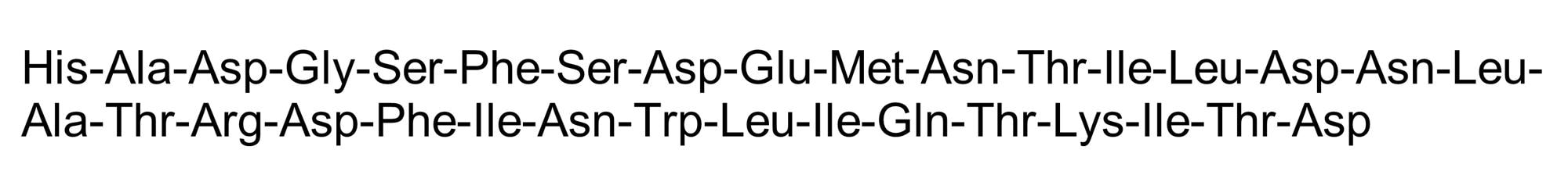 Chemical Structure - Glucagon-Like Peptide II (rat), stimulates cell proliferation in GI tract (ab142306)