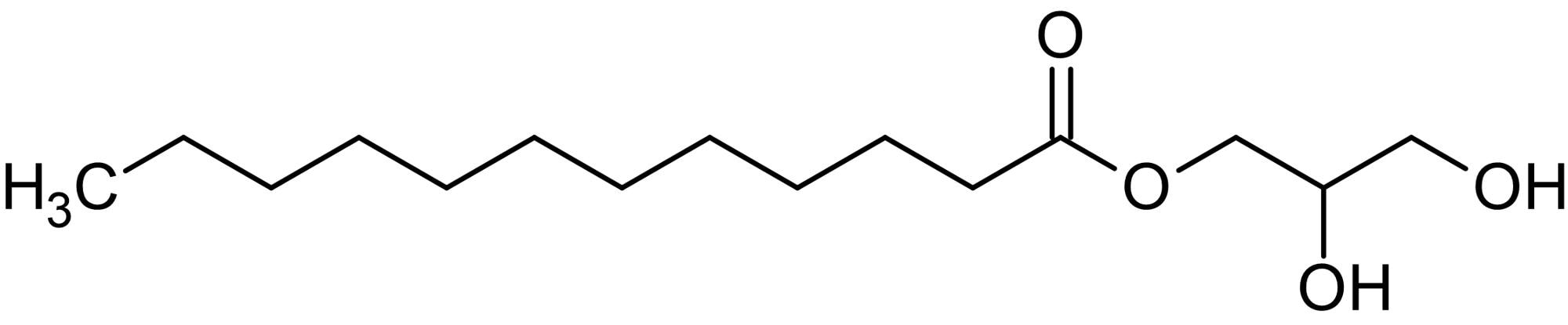 Chemical Structure - Glycerol monolaurate, Monoglyceride and naturally occurring surfactant (ab142307)