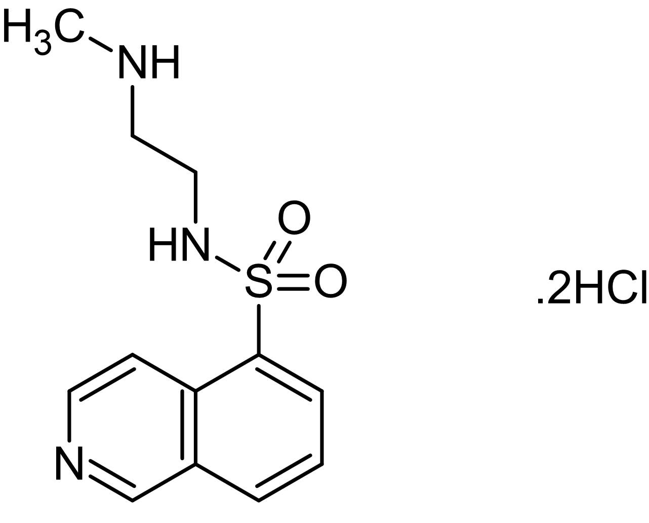 Chemical Structure - H8 dihydrochloride, cGMP and cAMP-dependent kinases inhibitor (ab142309)
