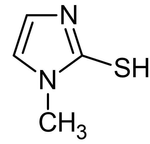 Chemical Structure - Methimazole, Thyroperoxidase inhibitor, antithyroid compound (ab142320)