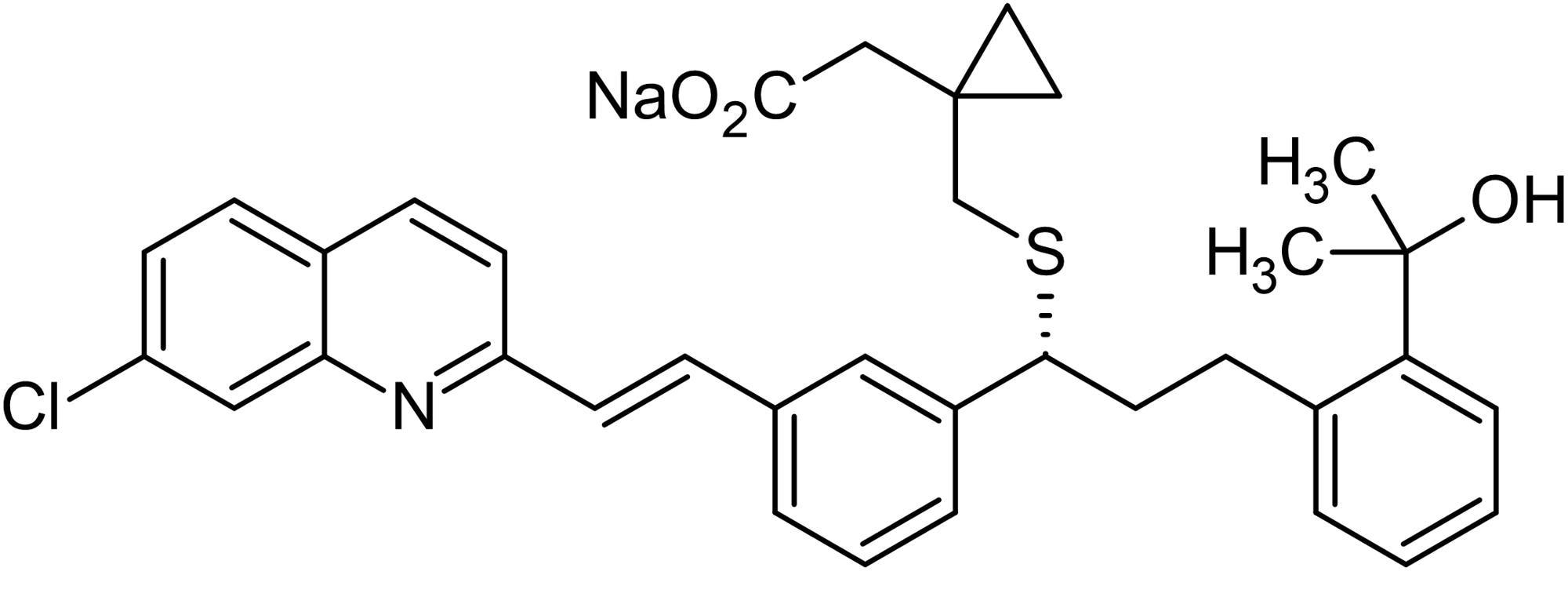 Chemical Structure - Montelukast sodium, leukotriene D4 antagonist (ab142323)