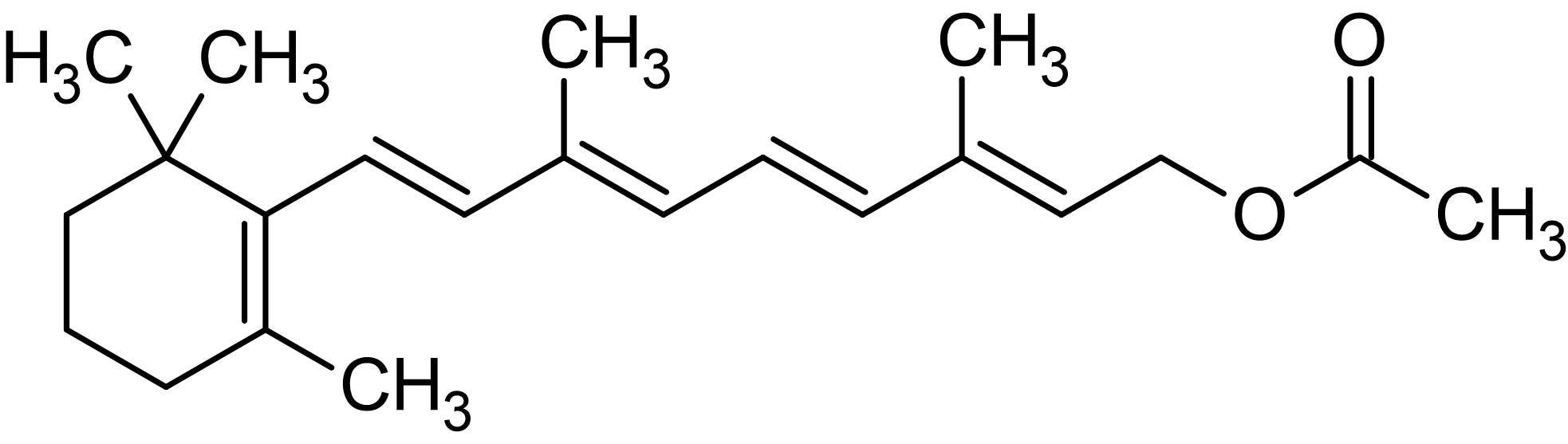 Chemical Structure - Retinyl acetate, apoptotic agent (ab142361)