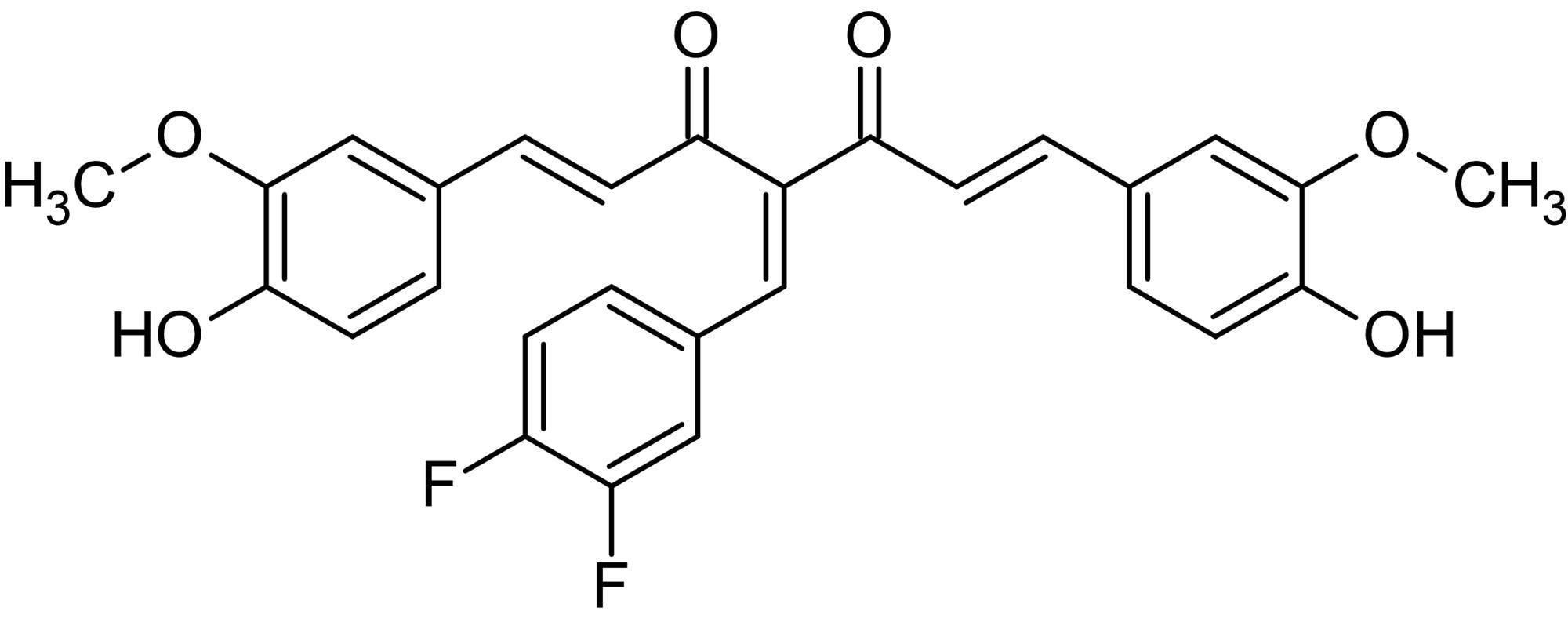 Chemical Structure - 3,4-Difluorobenzocurcumin, Lipoxygenase and cyclooxygenase inhibitor (ab142386)