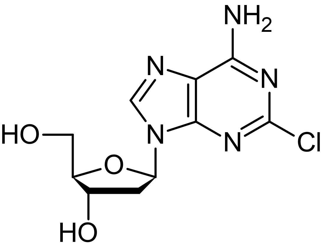 Chemical Structure - Cladribine, Adenosine deaminase inhibitor (ab142414)