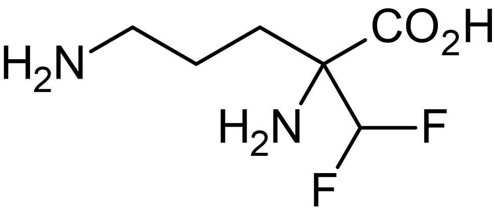 Chemical Structure - Difluoromethylornithine, ornithine decarboxylase inhibitor (ab142422)