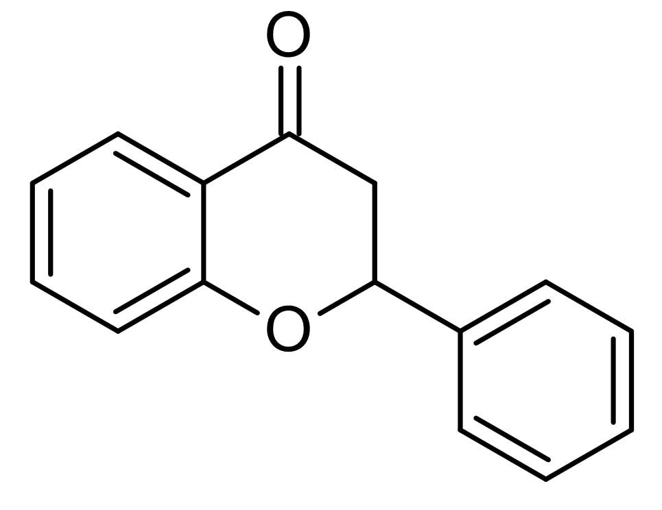 Chemical Structure - Flavanone, flavonoid (ab142430)