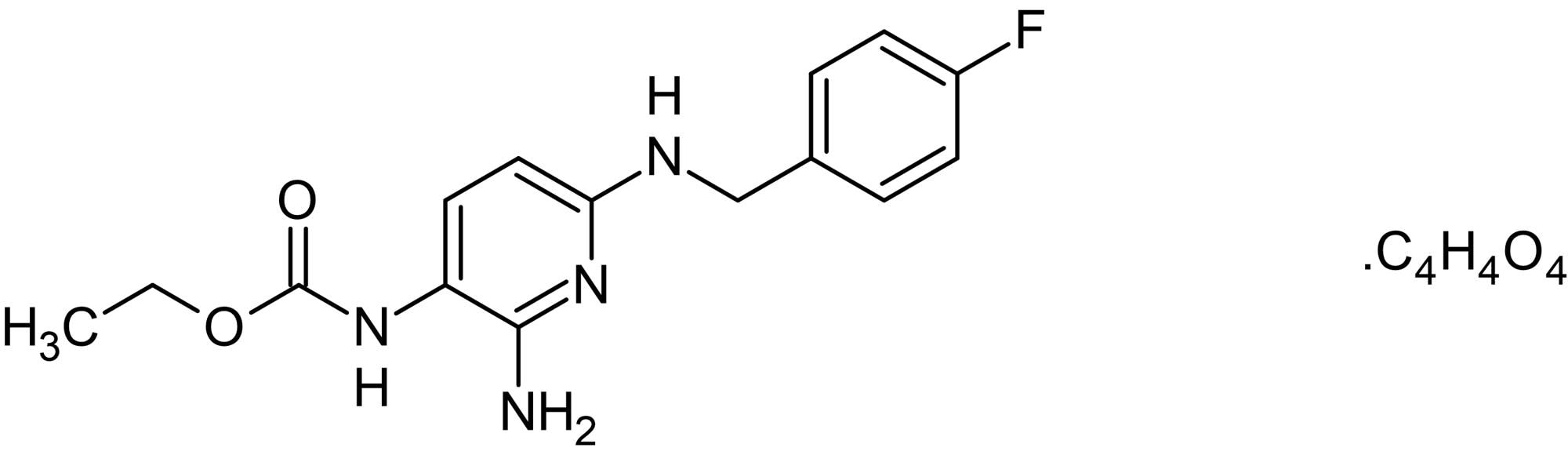 Chemical Structure - Flupirtine maleate, Neuronal potassium channel opener (ab142432)
