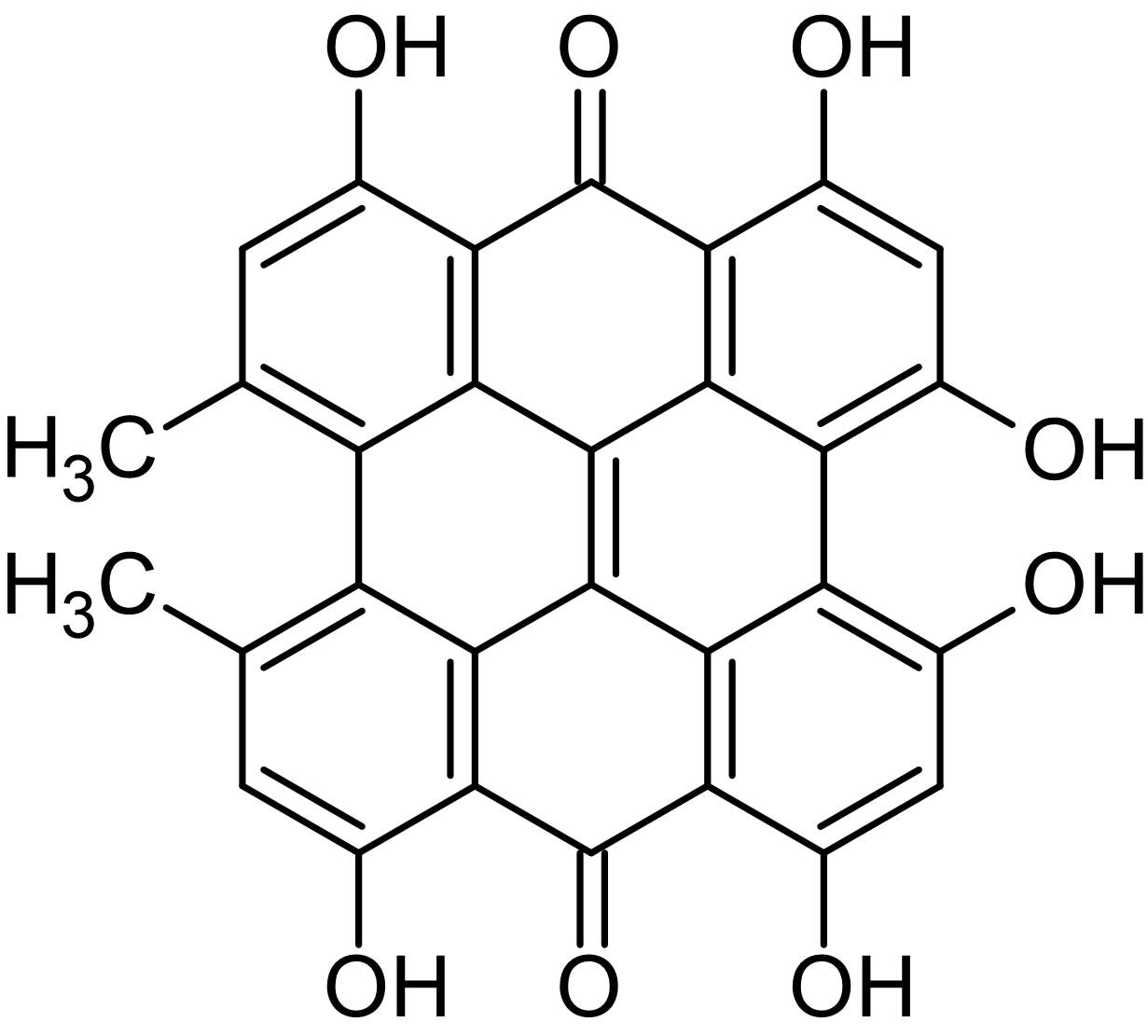 Chemical Structure - Hypericin, PKC inhibitor (ab142440)