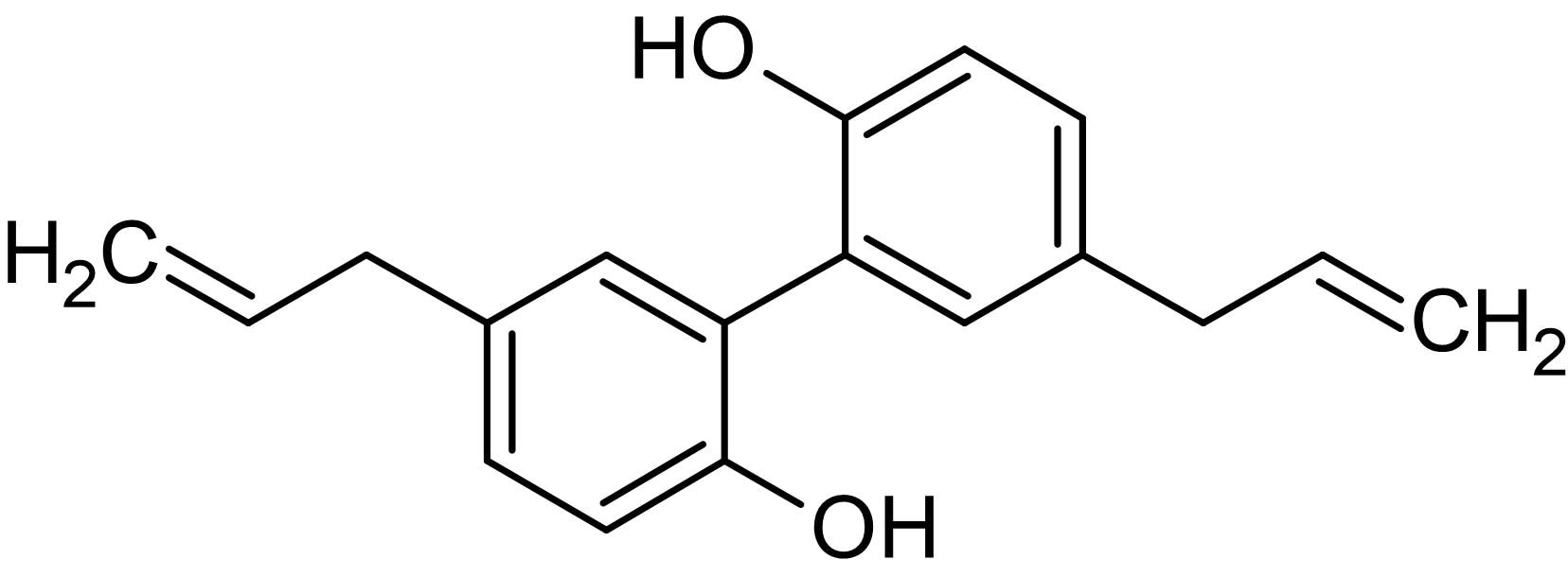 Chemical Structure - Magnolol (5,5'-Diallyl-2,2'-dihydroxybiphenyl), antioxidant (ab142443)