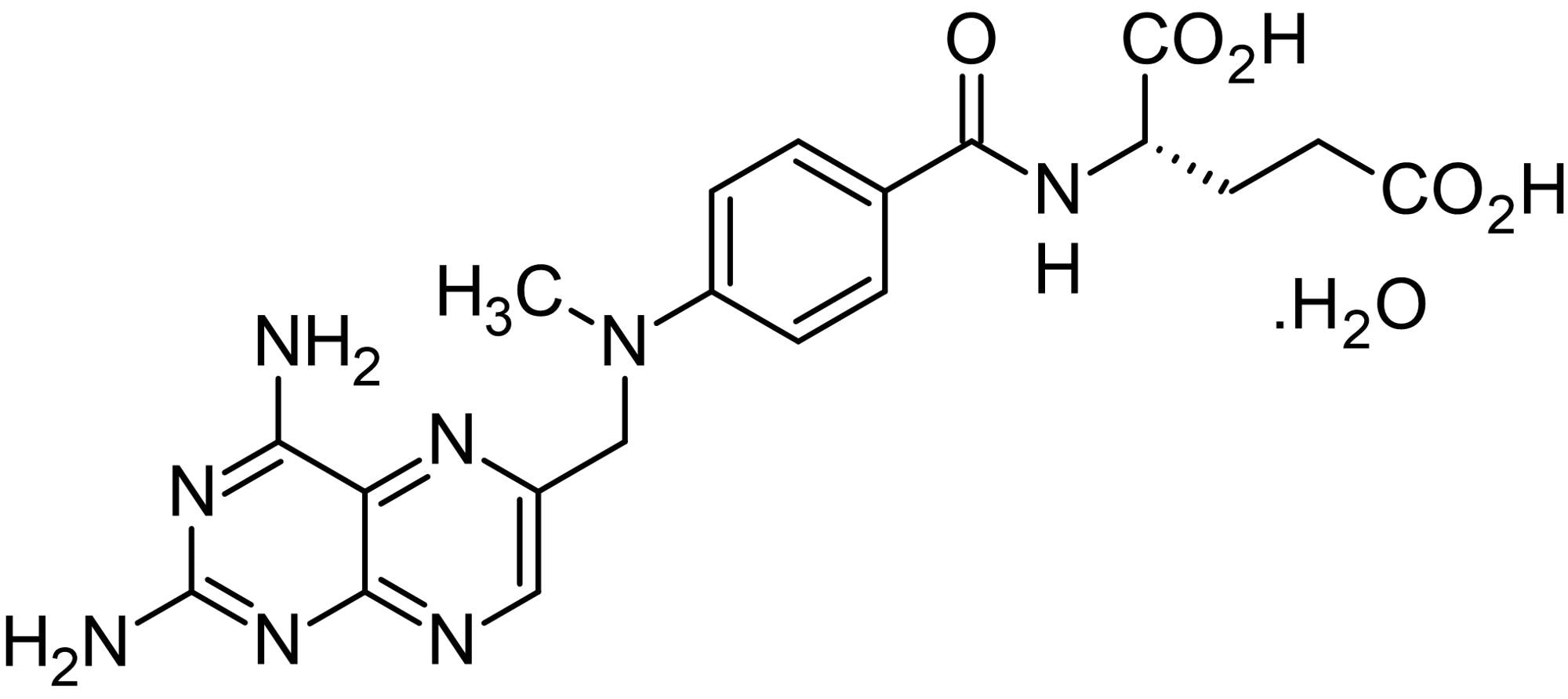 Chemical Structure - Methotrexate hydrate, DHFR inhibitor (ab142445)