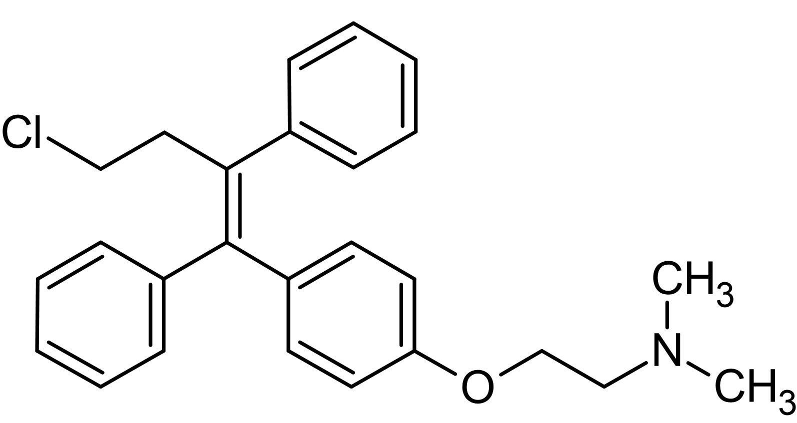 Chemical Structure - (Z)-Toremifene, estrogen biosynthesis inhibitor (ab142467)