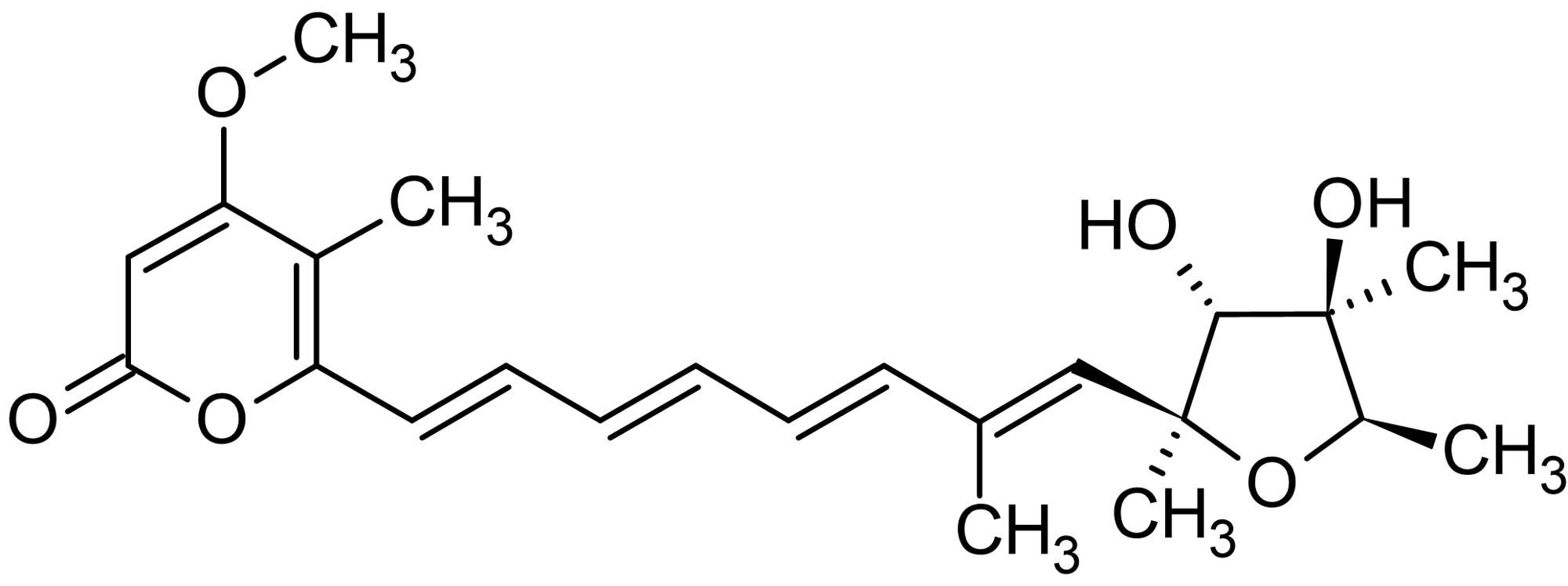 Chemical Structure - Citreoviridin A, mitochondrial ATPase inhibitor (ab142503)