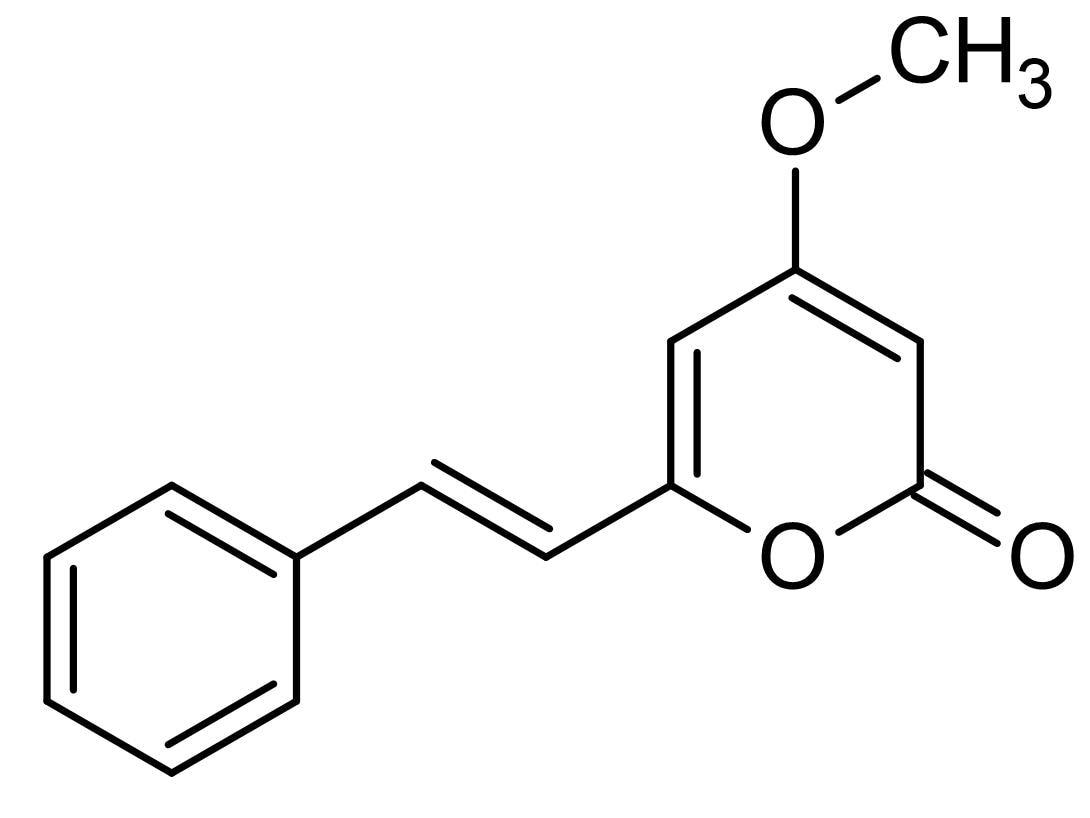 Chemical Structure - 5,6-Dehydrokawain, PAF receptor binding inhibitor (ab142508)