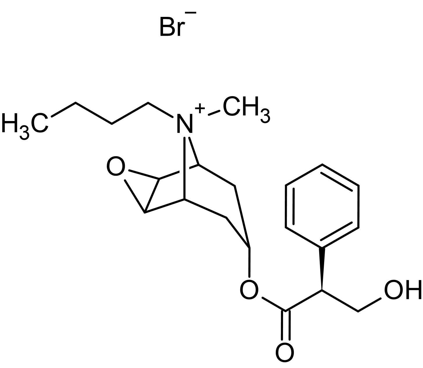 Chemical Structure - Scopolamine N-butylbromide, Anticholinergic agent (ab142541)