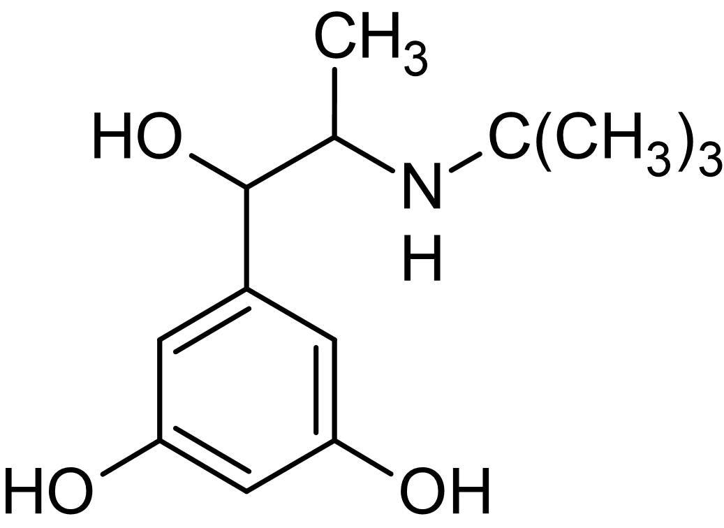 Chemical Structure - Terbutaline, Selective beta<sub>2</sub>adrenoceptor agonist (ab142554)