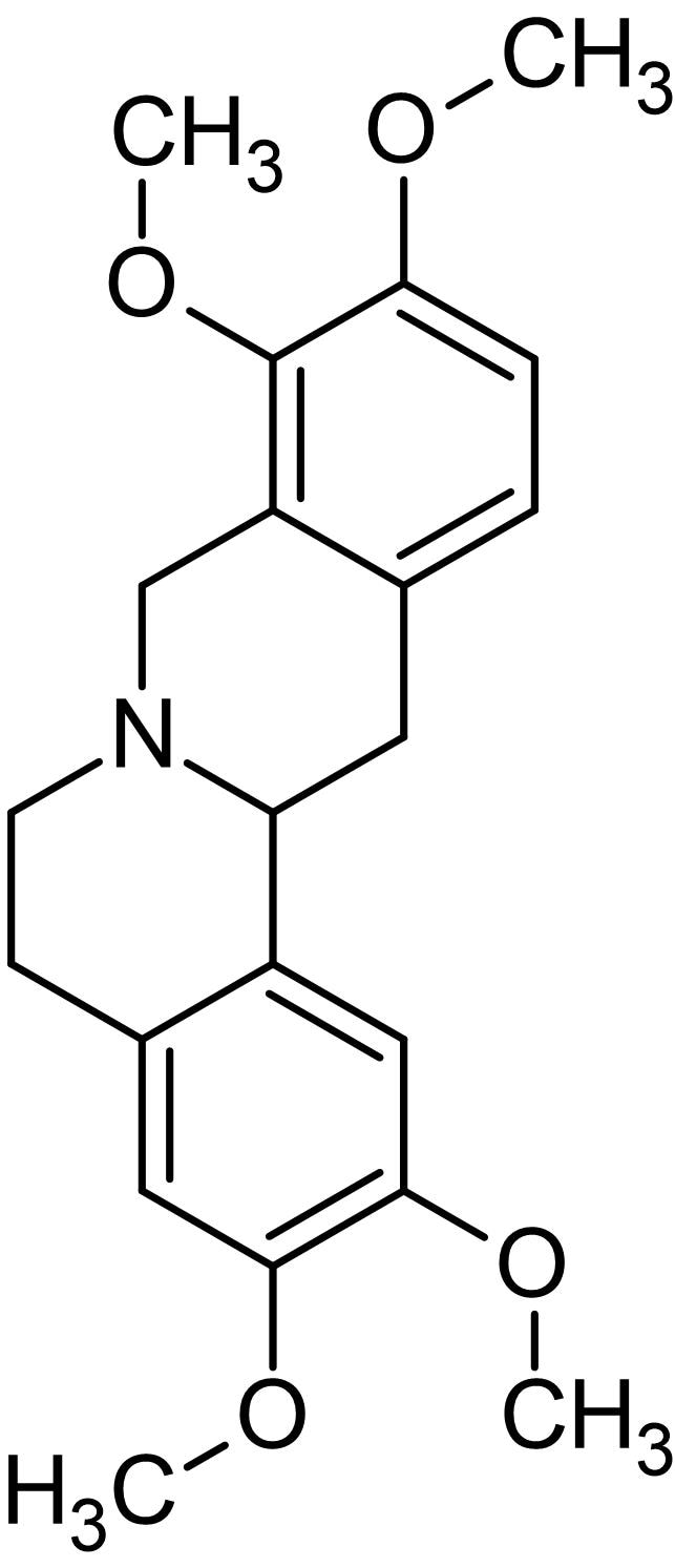 Chemical Structure - D-Tetrahydropalmatine, Selective D<sub>1</sub> receptor antagonist (ab142555)