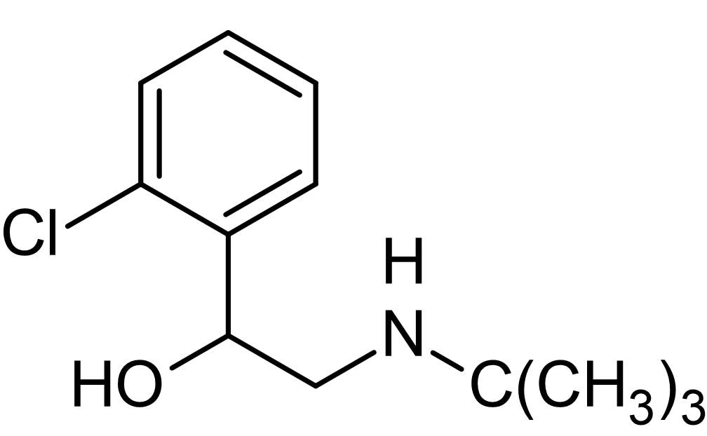 Chemical Structure - Tulobuterol, Long-acting beta2-adrenoceptor agonist (ab142556)