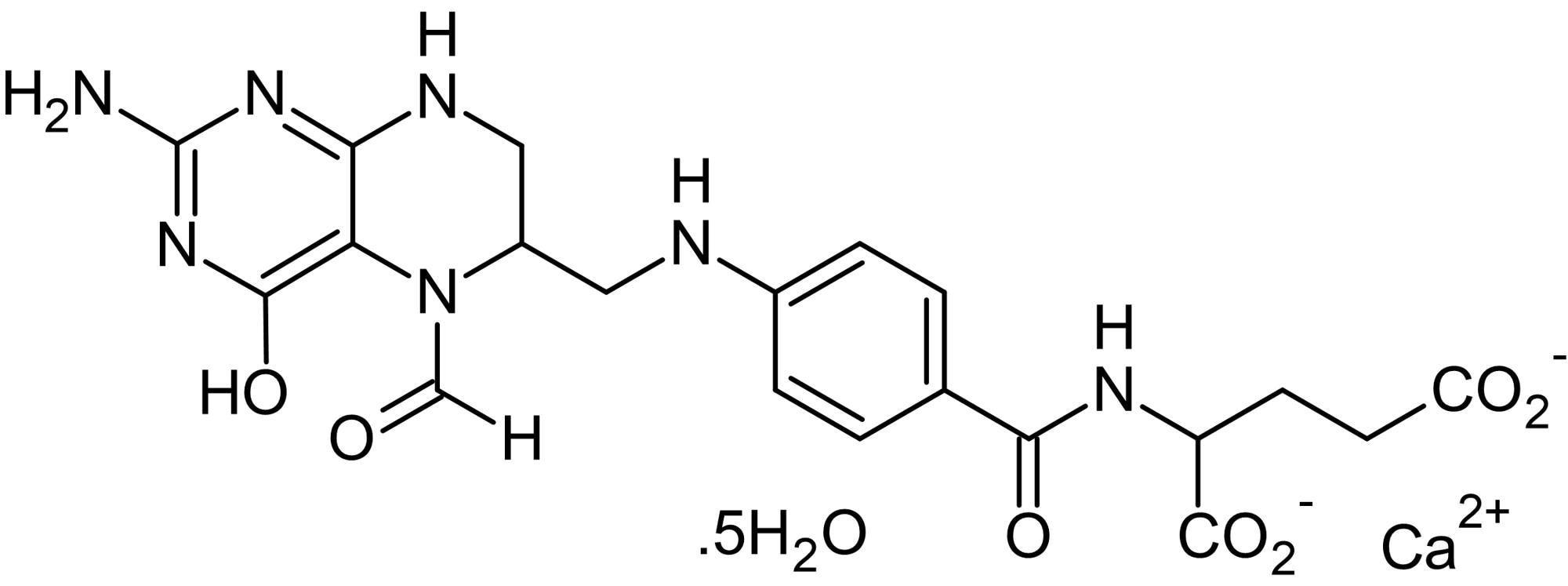 Chemical Structure - Calcium folinate pentahydrate (Folinic acid calcium salt), Vitamer of folic acid (ab142573)