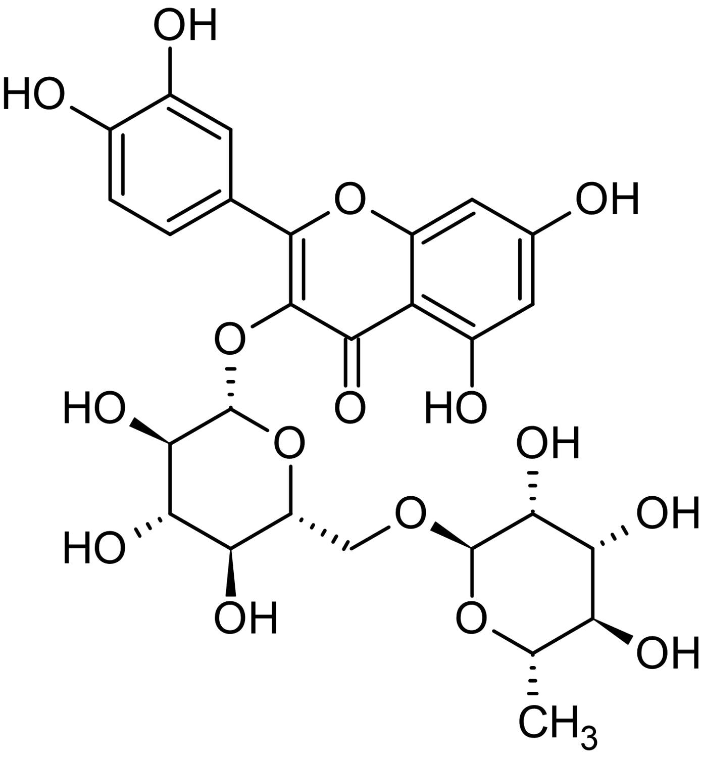 Chemical Structure - Rutin, Antioxidant and NO scavenger (ab142586)
