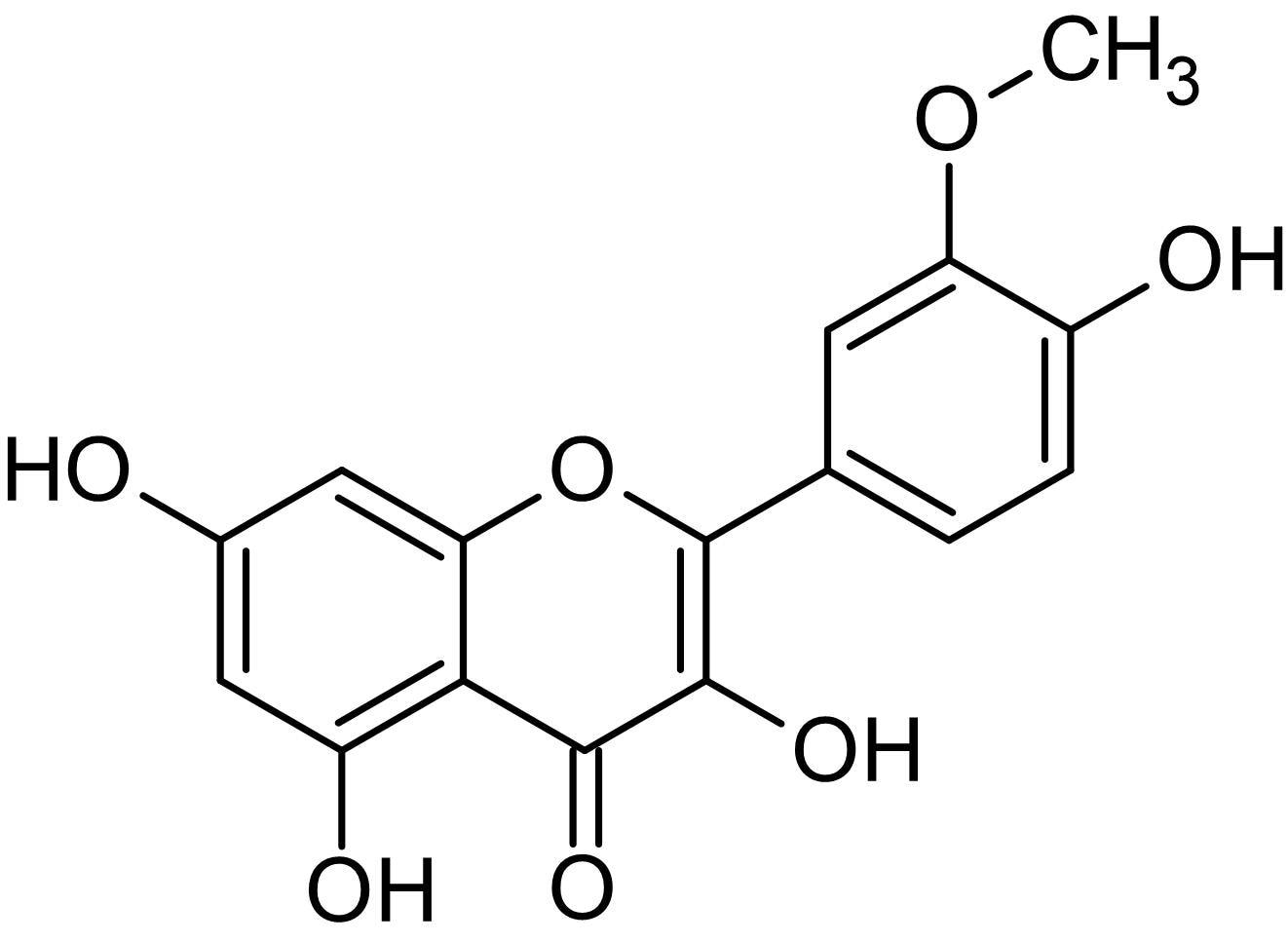 Chemical Structure - Isorhamnetin, Antioxidant agent (ab142622)
