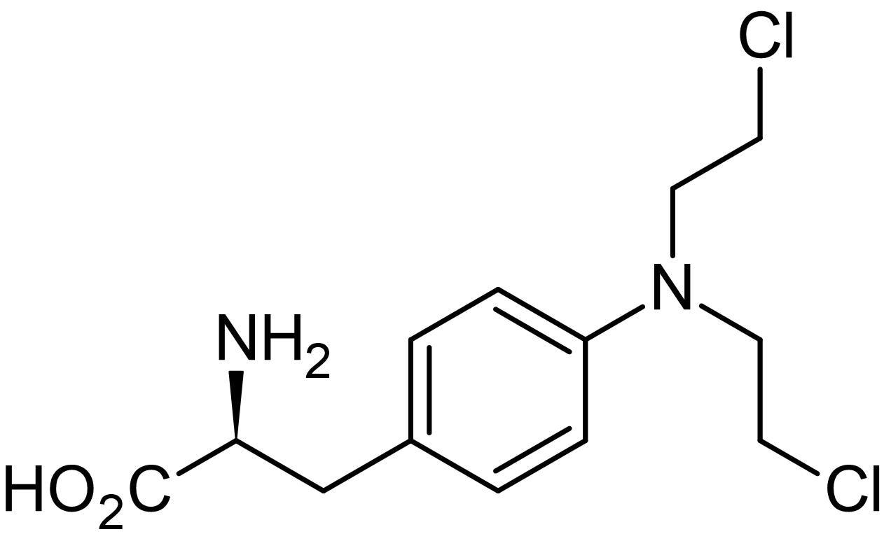 Chemical Structure - Melphalan, Phenylamine derivative of mechorethamine (ab142635)