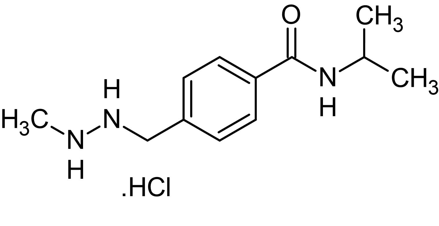 Chemical Structure - Procarbazine hydrochloride, Clastogen and genotoxic carcinogen (ab142642)