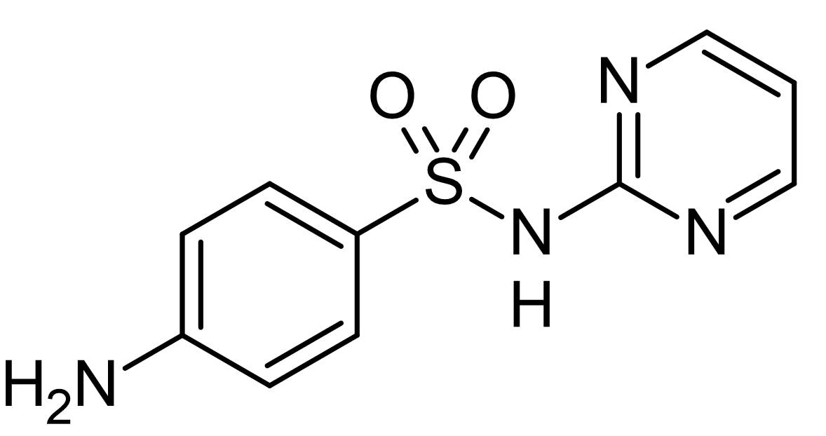 Chemical Structure - Sulfadiazine, dihydropteroate synthetase inhibitor (ab142669)